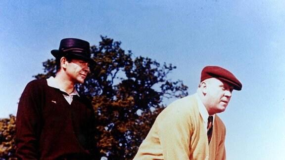 Gert Fröbe und Sean Connery