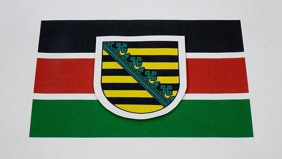 Das Wappen Sachsens