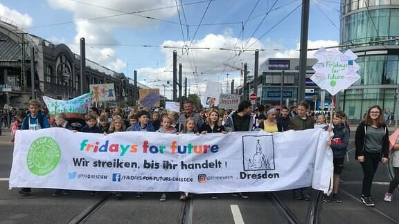 Klimastreik in Dresden