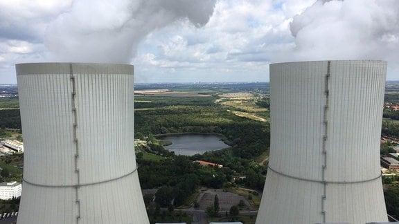 Kühltürme des Kohlekraftwerks Lippendorf