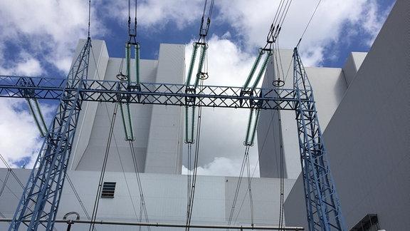 Das Kraftwerk Lippendorf versorgt die Region mit Strom aus Braunkohle
