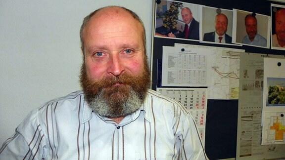 Bürgermeister Uwe Weigelt mit Bart