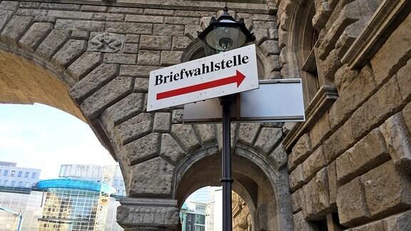 Briefwahlstelle Leipzig im Neuen Rathaus