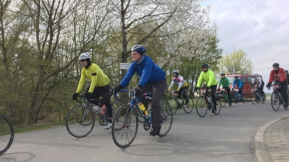 Fahrraddemo Roter Stern Leipzig-Wurzen-Chemnitz-Leipzig