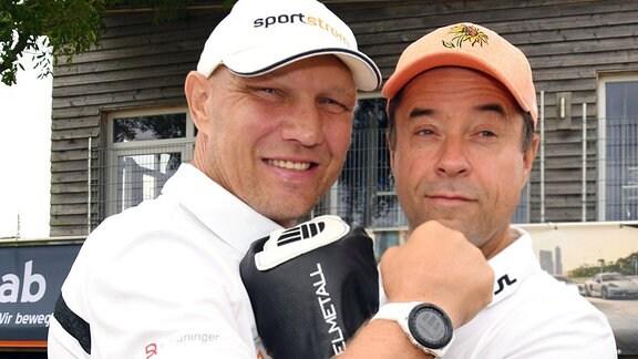 Jan Josef Liefers und Axel Schulz beim 11. Charity Golf Turnier, Leipzig