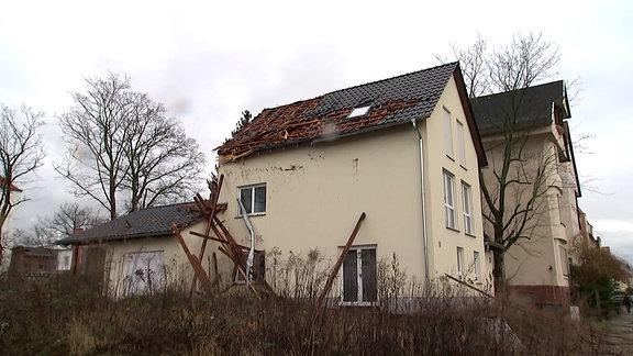 Sturmschäden in Taucha
