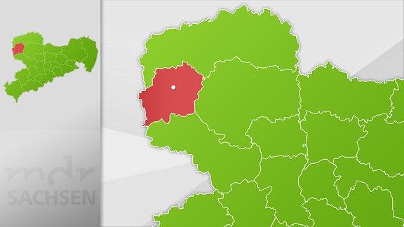 Karte Region Leipzig und Leipziger Land