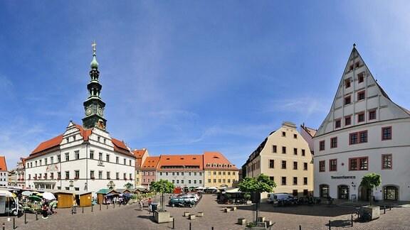 Marktplatz in Pirna.