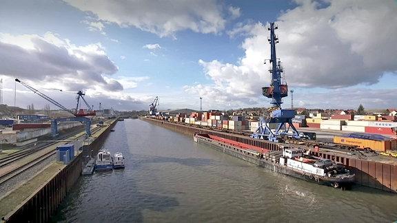 Hafengelände