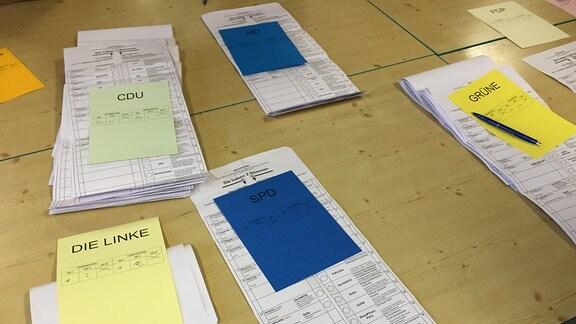 Auszählung der Landtagswahl im Wahlbezirk 8 Görlitz
