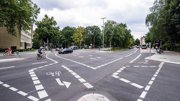 Kreuzung in Hamburg