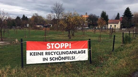 Recyclinganlage in Schönfels (bei Zwickau)