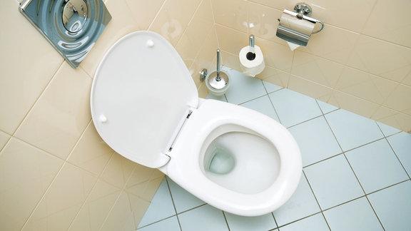 Eine Toilette