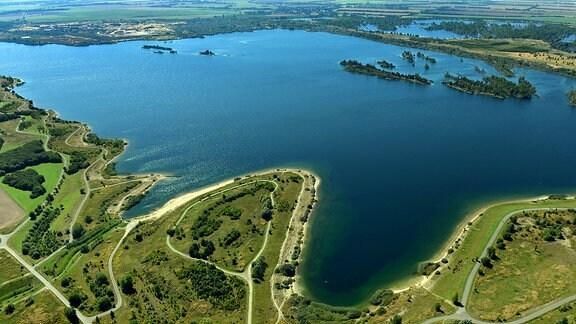 Seen im Lausitzer und Mitteldeutschen Braunkohlenrevier