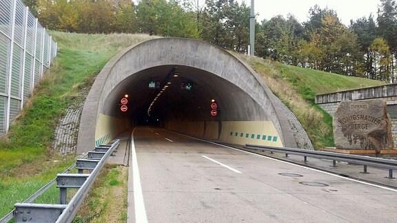 Tunnel Königshainer Berge auf der A4