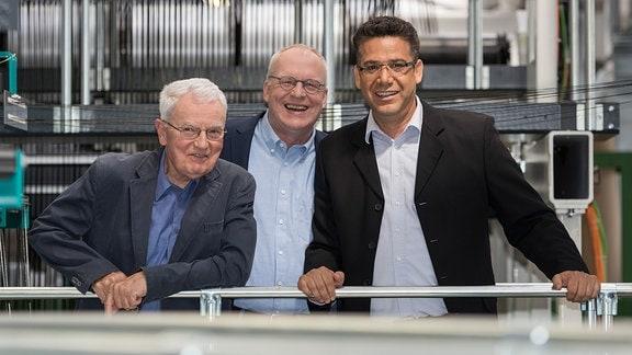 Die Gewinner des Deutscher Zukunftspreises 2016 Peter Offermann, Manfred Curbach und Chokri Cherif