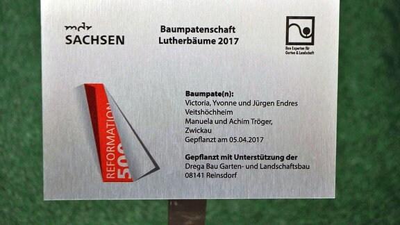 Pflanzschild Lutherbaum