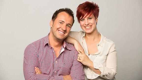 Elena Pelzer und Silvio Zschage