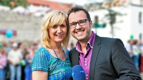 Anja Koebel und Silvio Zschage