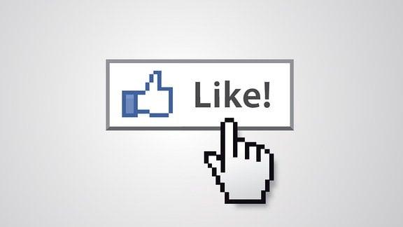 Cursor zeigt auf Like-Button