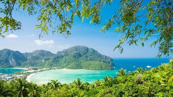 Eine Bucht auf einer Insel.