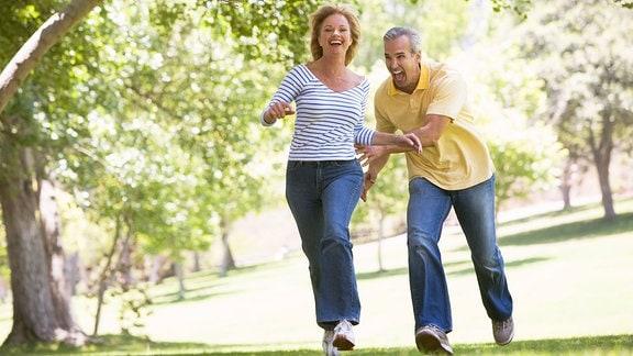 Ehepaar, Mann, Frau, Spaß in der Natur