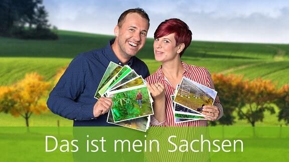 Elena Pelzer und Silvio Zschage suchen Lieblingsort der Sachsen.