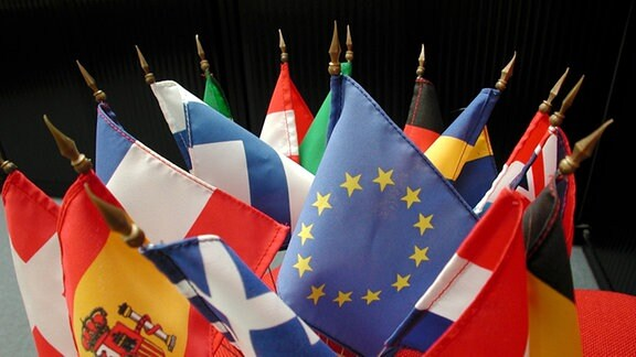 Europäische Fahnen.