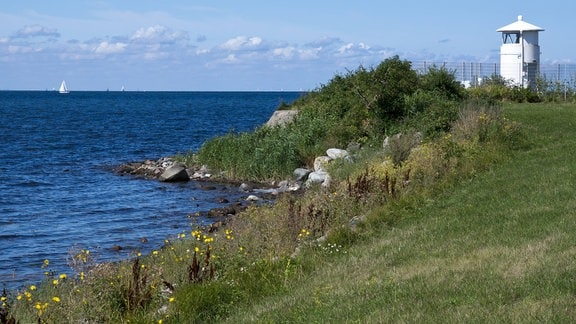 Der Leuchtturm Strukkamphuk auf der Insel Fehmarn