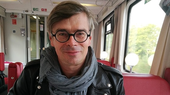 Jaroslav Rudis im Zug