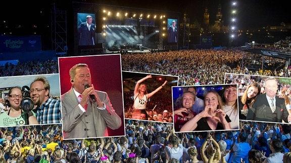 Collage Roland Kaiser und Fans