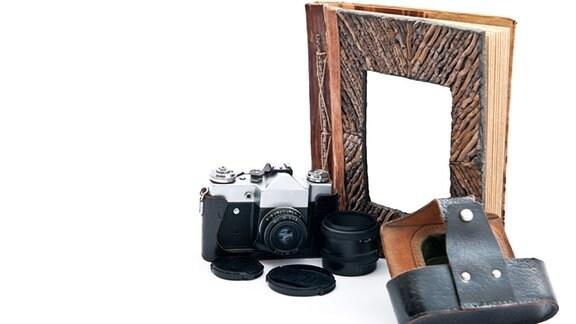 Fotoapparat und Fotoalbum