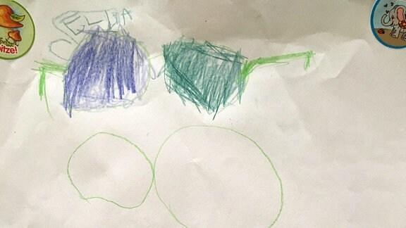 Ein Bild gemalt von Ella: Sonnenbrillen.
