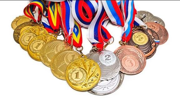 Verschiedene Medaillen