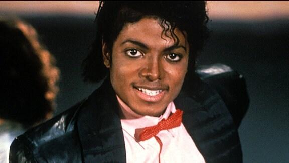 Michael Jackson während der Dreharbeiten zum Video - Billy Jean