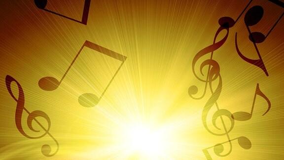 Musiknoten und Notenschlüssel