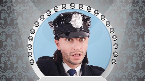 Polizist im Spiegel