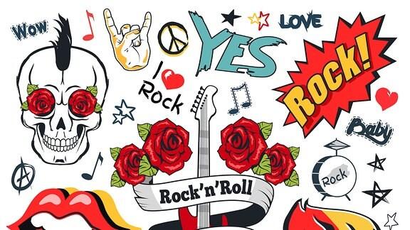 Grafiken zum Thema Rock and Roll