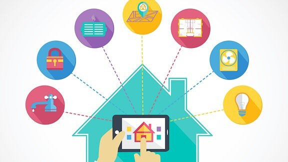 Illustration - Datenverkehr, Smarthome