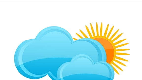 Grafik: Sonne, Wolken und Regen