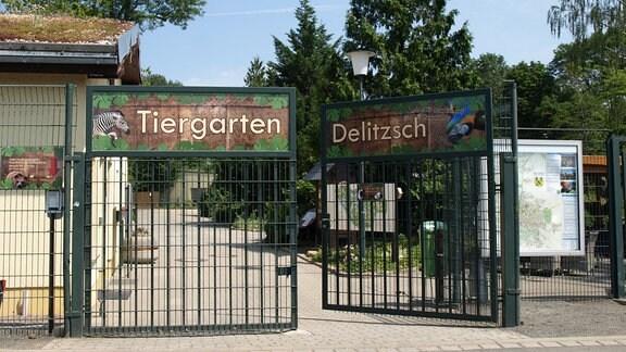 Eingang des Tiergarten Delitzsch