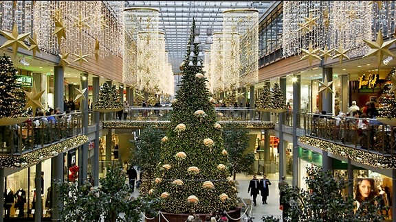 Weihnachtsdekoration im Einkaufscenter
