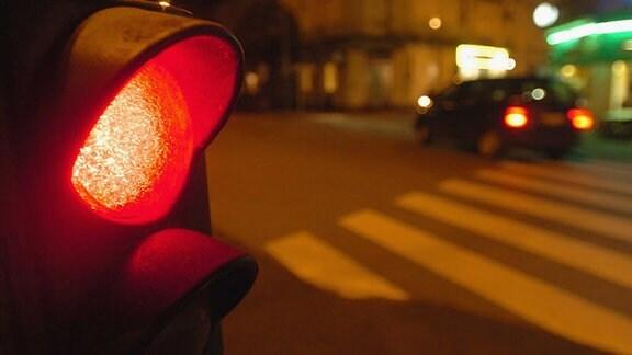 Eine rote Ampel