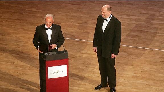 Franz Beckenbauer und Wolfgang Tiefensee