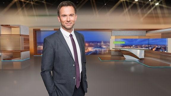 MDR SACHSENSPIEGEL-Moderator Tino Böttcher