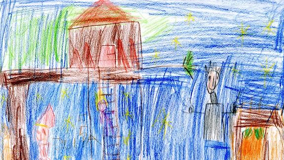 Kinderzeichnung von Julia (5) aus Freital