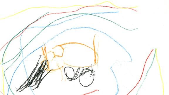 Kinderzeichnung von Karl (2) aus Harzgerode