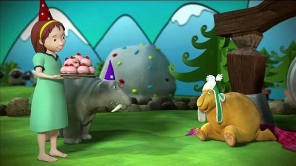 Szene aus: Moffellieder - Geburtstag