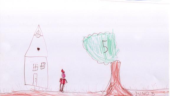 Zeichnung von Juno