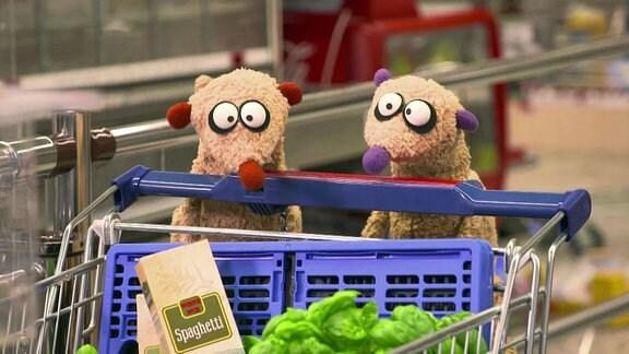 Jan und Henry im Supermarkt
